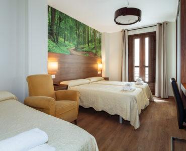 Habitación cuádruple ideal para viajeros